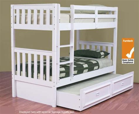 Bunk Bed King Single Bunk Bed King Single With King Single Trundle Solid White New Goingbunks Biz