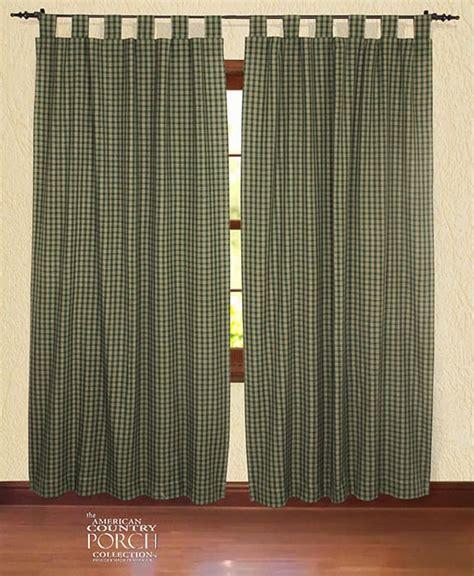 williamsburg curtains williamsburg green tab top window curtain panels