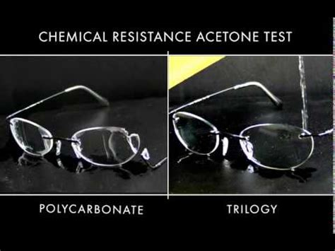 trilogy® trivex® chemical resistance test youtube