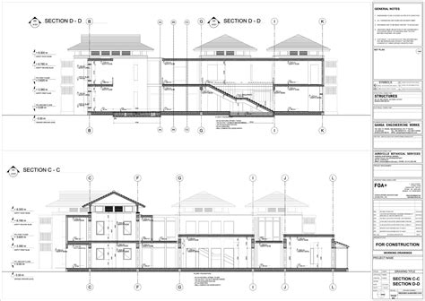section working drawing farmhouse near bangalore update 02 working drawings