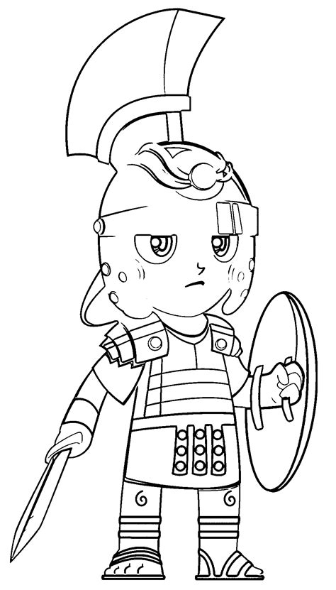 roman soldier coloring page sketch coloring page