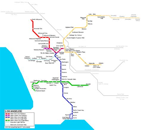 los angeles subway map los angeles mapa metro