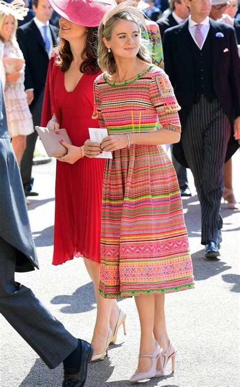 Prince Harrys Chelsy Wears 45 Warehouse Dress by Cressida Bonas Arrives At Prince Harry S Wedding To Meghan