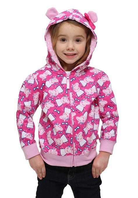 Child Sweatshirt 3 peppa pig 3d ears hooded sweatshirt