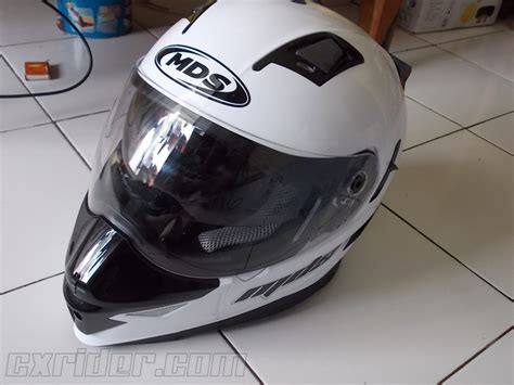 Helm Mds Supermoto Hitam review singkat helm supermoto lokal mds superpro cxrider