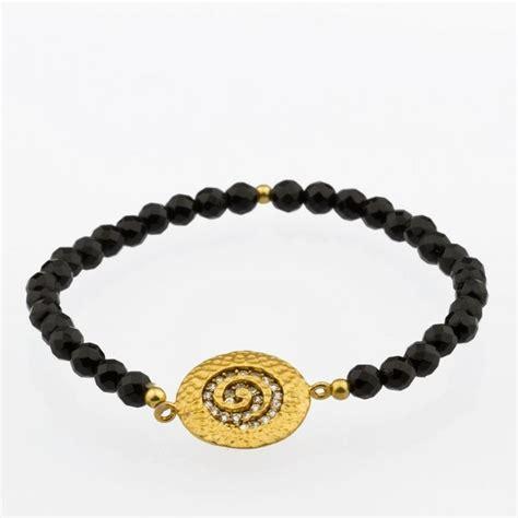 Spiral String - onyx spiral stretch string bracelet on luulla