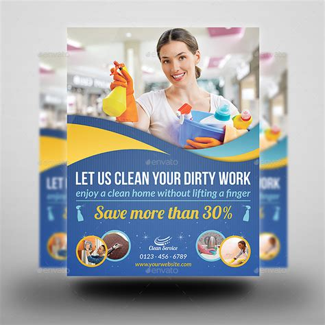 cleaning advertisement template cleaning services flyer template vol2 by owpictures