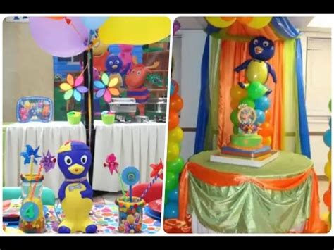 decoracion fiestas infantiles youtube decoracion de fiestas infantiles de backyardigans happy