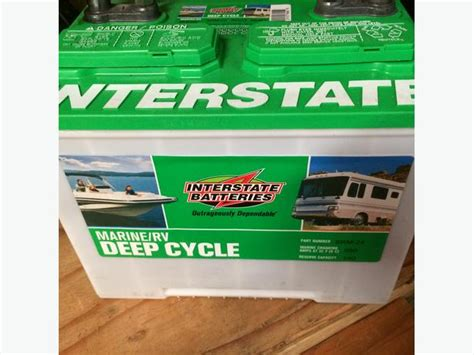 interstate boat batteries 2 interstate marine rv deep cycle batteries cbell river