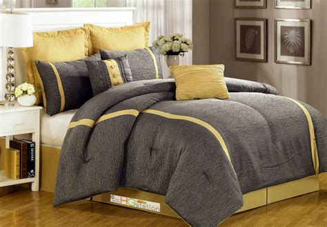 grey and yellow comforters simple bedroom with yellow