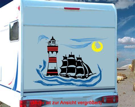 Wohnmobil Aufkleber Leuchtturm by Wohnmobil Wohnwagen Aufkleber Set Leuchtturm Segelboot