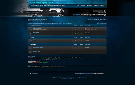 phpbb forum templates esport phpbb forum skin
