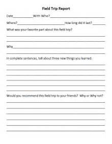 field trip report template student report forms field trips trips and fields