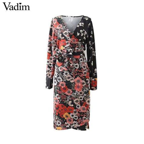 aliexpress vadim aliexpress com buy vadim vintage floral pattern wrap