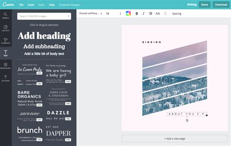 canva justify text guide to creating album artwork for free using canva