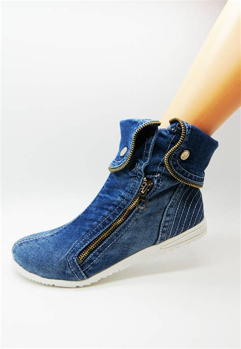 Flat Demin new shoes material stretchy flat denim fabric