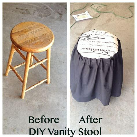 diy vanity stool from bar stool diy furniture