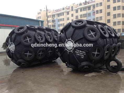 traditional rubber sts chain and tyre type pneumatic ship and dock fender marine