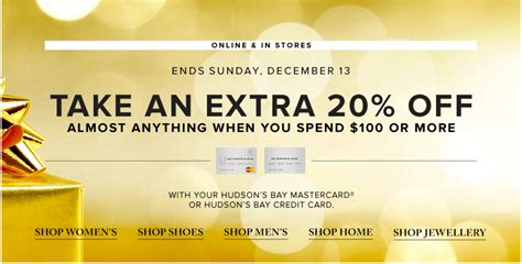 Hudson S Bay Canada Offers - hudson s bay canada offers save an 20 when you