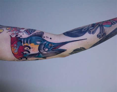tatuaggio interno caviglia marlin by il forestiero