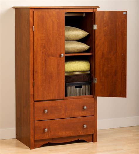 modern armoire cherry monterey 2 door armoire modern armoires and wardrobes