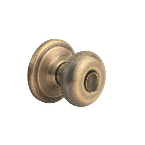 Brass Bed Knobs by Kwikset Juno Antique Brass Bed Bath Knob 730j 5 Cp The
