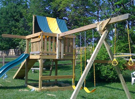 diy backyard play structures installing swing sets and play structures mr handyman