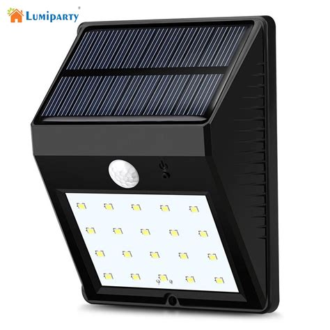 solar panel wall lights lumiparty 20led solar panel powered motion sensor l