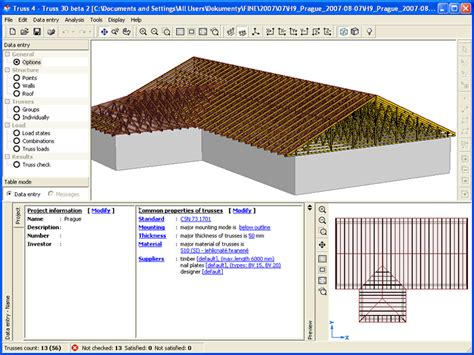 Hip Roof Dimensions Truss 3d Bova Nail