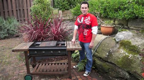 building a bbq bench diy potting bench from a salvaged bbq youtube