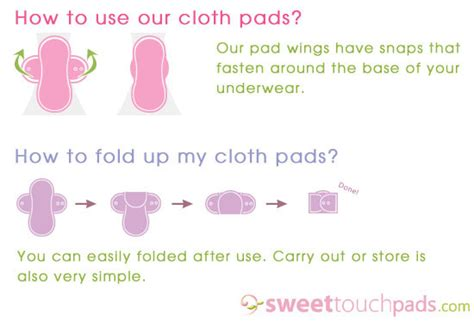 how to use pads sweettouchpads sweettouch cloth pads reusable washable cloth menstrual pads