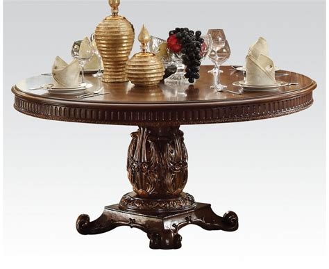 vendome formal ornate  wood top  dining table