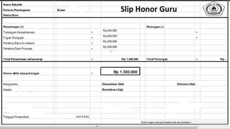 format slip gaji honorer guru honorer dapat mempunyai rumah sendiri tanpa menjadi