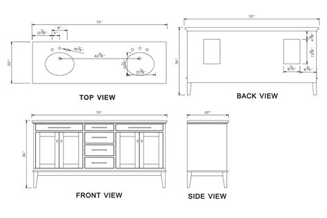 Kitchen Cabinet Door Dimensions by 72 Inch Idaho Vanity Dark Espresso Vanity Espresso