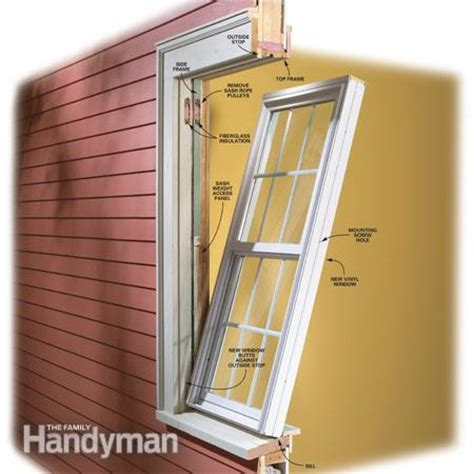 how to install a replacement window in a brick house how to install vinyl replacement windows the family handyman