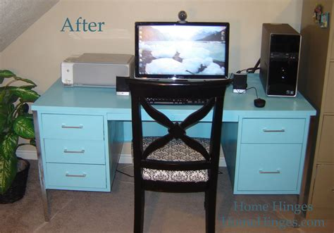painting a metal desk metal desk makeover before and after reveal