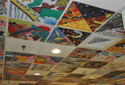 idea for tile art working painted ceiling tiles ceiling tiles pinterest