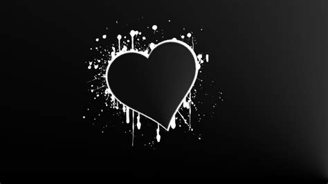 black  white heart wallpapers wallpaper cave