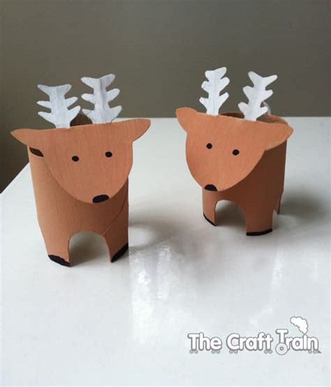 Reindeer Paper Craft - toilet roll reindeer