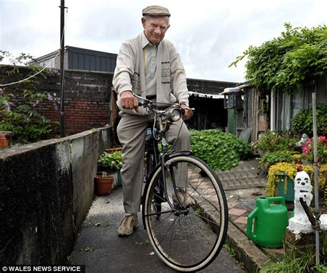 cyclist 90 goes for a ride on triumph bike he was given