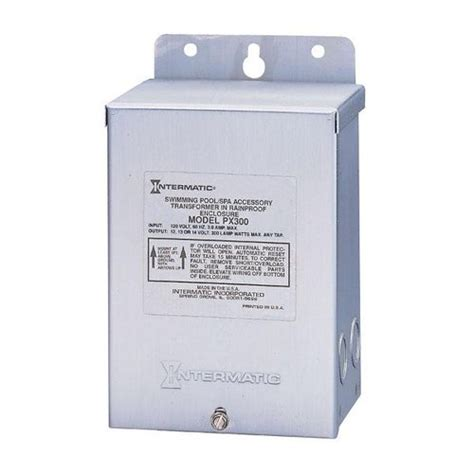 intermatic px300s stainless steel 300w pool light transformer