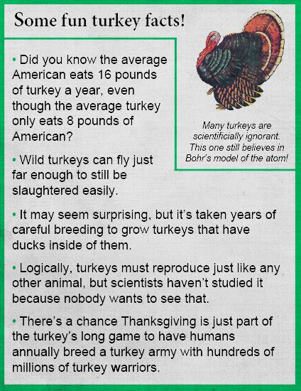 fake science some turkey facts