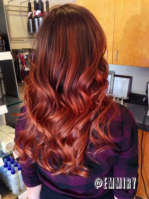 copper red ombre hair balayage copper red ombre balayage hair on hair pinterest