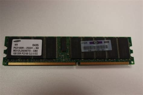 Hp Samsung Terbaru Ram 1gb hp 261585 041 1gb dddr pc2100 cl2 5 ecc server memory