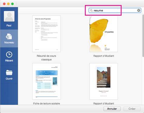 Modèle De Lettre Microsoft Word Cr 233 Er Un C V Ou Une Lettre De Motivation Dans Word 2016 Pour Mac Word For Mac