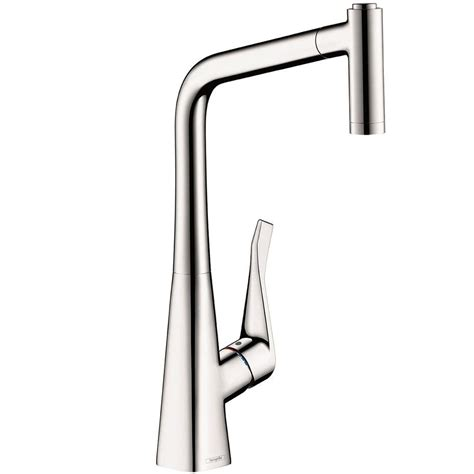 kitchen faucets hansgrohe hansgrohe metris single handle pull out sprayer kitchen