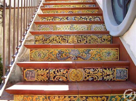 Do It Yourself Kitchen Backsplash italian ceramics stair riser 09 messina italian pottery