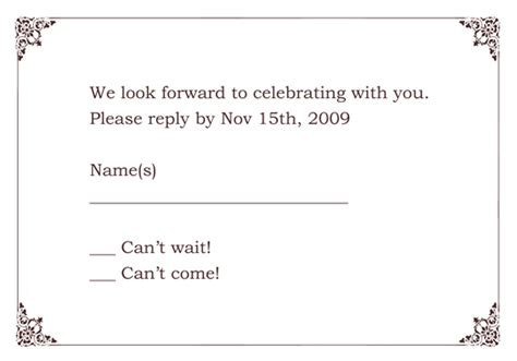 rsvp template word quotes