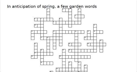 Garden Pest Crossword Answer Gardening One Clue Crossword 28 Images Garden Shrubs