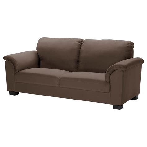 couch or sofa tidafors three seat sofa dansbo medium brown ikea